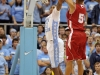 November 30, 2011: John Henson #31 and Ryan Evans #5 in action during NCAA Basketball game between the North Carolina Tarheels and Wisconsin Badgers as part of the Big Ten/ACC Challenge at The Dean Dome, Chapel HIll, NC.