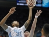 November 30, 2011: John Henson #31 in action during NCAA Basketball game between the North Carolina Tarheels and Wisconsin Badgers as part of the Big Ten/ACC Challenge at The Dean Dome, Chapel HIll, NC.