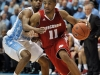 November 30, 2011:  Jordan Taylor #11 and Dexter Strickland #1 in action during NCAA Basketball game between the North Carolina Tarheels and Wisconsin Badgers as part of the Big Ten/ACC Challenge at The Dean Dome, Chapel HIll, NC.