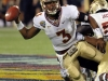 December 29 2011:  EJ Manuel #3 in action during NCAA football Champs Sports Bowl between Notre Dame Fighting Irish and Florida State Seminoles at Florida Citrus Bowl Stadium, Orlando, Florida.