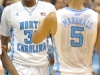 December 21, 2011: John Henson #31 celebrates with Kendall Marshall #5 during NCAA Basketball game between the North Carolina Tarheels and Texas Longhorns at The Dean E. Smith Center, Chapel HIll, NC.