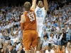 December 21, 2011: James McAdoo #43 and Clint Chapman #53 in action during NCAA Basketball game between the North Carolina Tarheels and Texas Longhorns at The Dean E. Smith Center, Chapel HIll, NC.