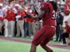 January 02 2011: Kenny Miles #31 catches a touchdown during NCAA football Capital One Bowl between Nebraska and South Carolina at Florida Citrus Bowl Stadium, Orlando, Florida.