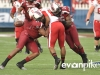January 02 2011: DeVonte Holloman #21 and D.J Swearinger #36 crush Brandon Kinnie #84 during NCAA football Capital One Bowl between Nebraska and South Carolina at Florida Citrus Bowl Stadium, Orlando, Florida.