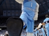 January 10, 2012: North Carolina Tarheels mascot Rameses during NCAA Basketball game between the North Carolina Tarheels and University of Miami Hurricanes at The Dean E. Smith Center, Chapel HIll, NC.