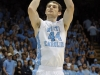 January 10, 2012: Tyler Zeller #44 in action during NCAA Basketball game between the North Carolina Tarheels and University of Miami Hurricanes at The Dean E. Smith Center, Chapel HIll, NC.