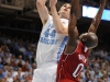January 26th, 2012: North Carolina Tar Heels forward Tyler Zeller #44 and North Carolina State Wolfpack center DeShawn Painter #0 in action during NCAA basketball game between the North Carolina Tar Heels and the North Carolina State Wolfpack at The Dean E. Smith Center, Chapel HIll, NC.