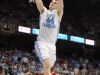 January 26th, 2012: North Carolina Tar Heels forward Tyler Zeller #44 in action during NCAA basketball game between the North Carolina Tar Heels and the North Carolina State Wolfpack at The Dean E. Smith Center, Chapel HIll, NC.