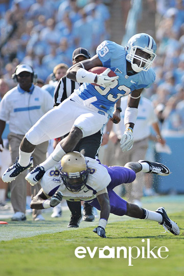 NCAA Football: James Madison vs North Carolina SEP 3