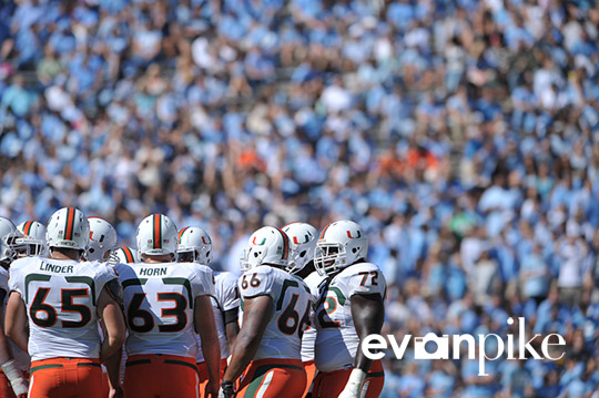 NCAA Football: University of Miami vs University of North Carolina OCT 15