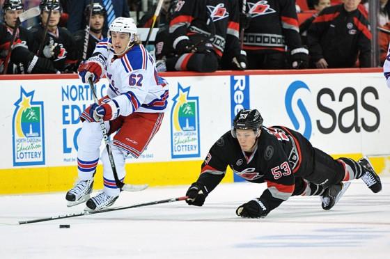 NHL Hockey: New York Rangers vs Carolina Hurricanes DEC 1