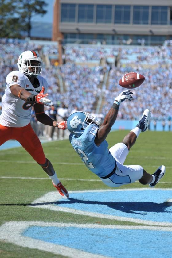 NCAA Football: University of Miami vs University of North Carolina OCT 15