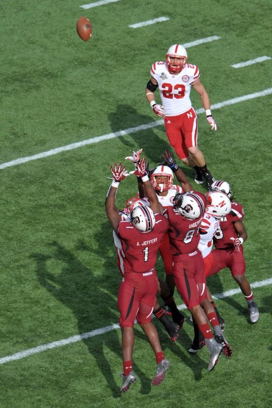 NCAA Football 2012: Capital One Bowl Nebraska Cornhuskers vs South Carolina Gamecocks JAN 02