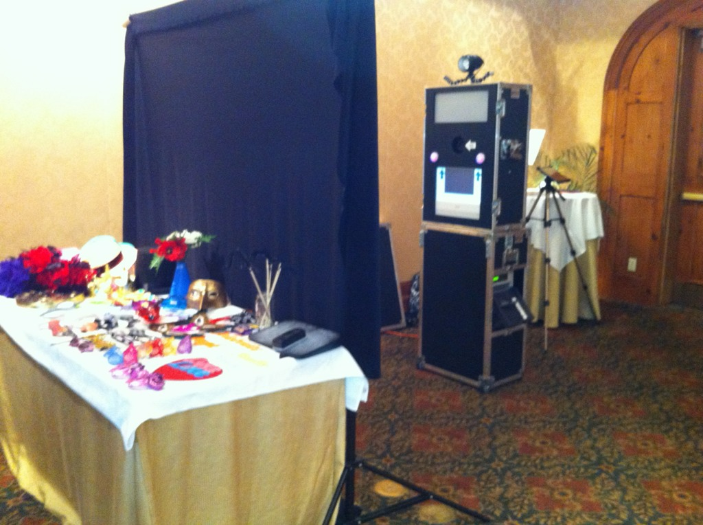 The calm before the photo booth storm at today's wedding at the O'Henry Hotel in Greensboro