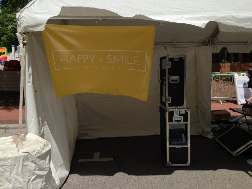 The Happy Smile Photo Booth is up and ready for #Packapalooza!
