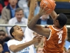 December 21, 2011: John Henson #31 and Jaylen Bond #2 in action during NCAA Basketball game between the North Carolina Tarheels and Texas Longhorns at The Dean E. Smith Center, Chapel HIll, NC.
