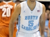 December 21, 2011: Kendall Marshall #5 shows a brief smile during NCAA Basketball game between the North Carolina Tarheels and Texas Longhorns at The Dean E. Smith Center, Chapel HIll, NC.