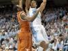 December 21, 2011: James McAdoo #43 and Julien Lewis #0in action during NCAA Basketball game between the North Carolina Tarheels and Texas Longhorns at The Dean E. Smith Center, Chapel HIll, NC.
