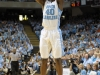 January 10, 2012: Harrison Barnes #40 in action during NCAA Basketball game between the North Carolina Tarheels and University of Miami Hurricanes at The Dean E. Smith Center, Chapel HIll, NC.
