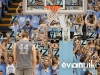 """February 29th, 2012: UNC fans hold up """"Z"""" for Zeller to show their support during the final home game of Tyler Zeller #44 during NCAA basketball game between the North Carolina Tar Heels and Maryland Terrapins at The Dean E. Smith Center, Chapel HIll, NC."""